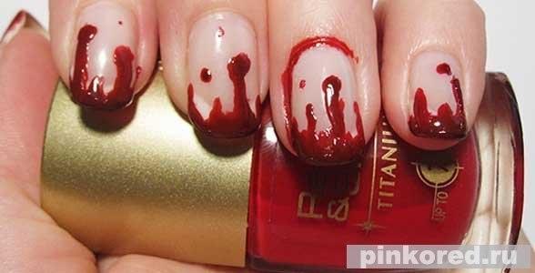 Ногти на хэллоуин в домашних условиях