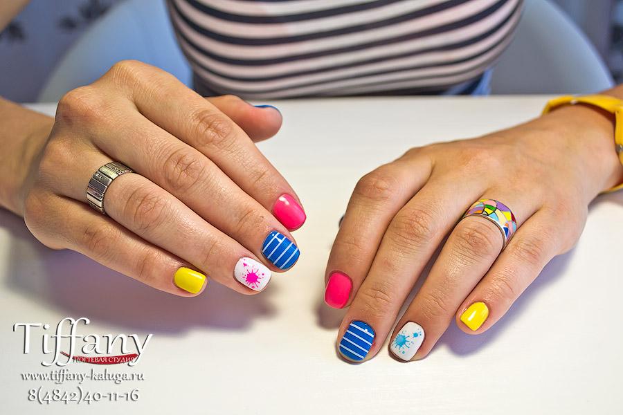 Дизайн ногтей шеллак летний