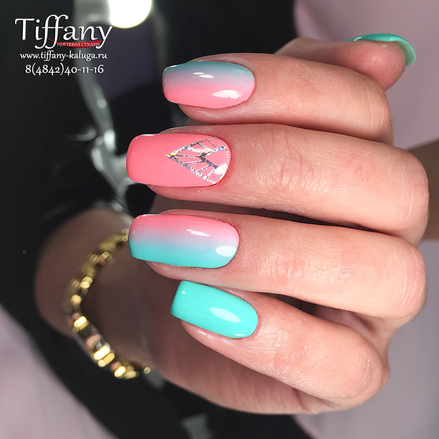 дизайн ногтей градиент 2016 фото новинки